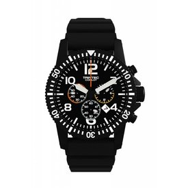 Trintec Industries Copilot Chrono Watch Black Rubber Strap