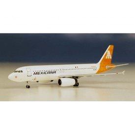 AeroClassics A320 Mexicana Cuitlahuac Yellow tail livery N230RX 1:400