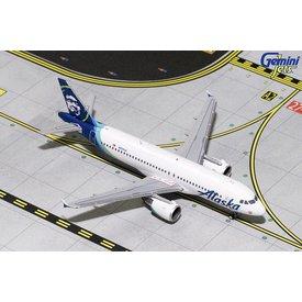 Gemini Jets A320 Alaska Airlines 2015 livery N624VA 1:400