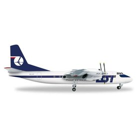 Herpa AN24B LOT Polish SP-LYZ 1:200 with stand