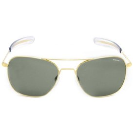 Randolph Engineering Aviator Gold 23k Bayonet Glass AGX AR 55 Sunglasses