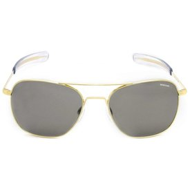 Randolph Engineering Aviator Gold 23k Bayonet Glass Gray AR 58 Sunglasses