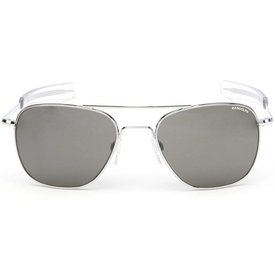 Randolph Engineering Aviator Bright Chrome Bayonet Glass Gray AR 55 Sunglasses