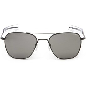 Randolph Engineering Aviator Matte Black Bayonet Glass Gray AR 55 Sunglasses