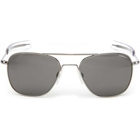 Randolph Engineering Aviator Gun Metal Bayonet Glass Gray AR 55 Sunglasses
