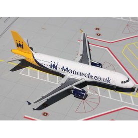 Gemini Jets A320 Monarch.co.uk new livery G-OZBX 1:200 with stand