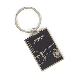 The Boeing Store 777X Midnight Silver Keychain