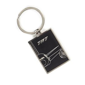 The Boeing Store 787 Dreamliner Midnight Silver Keychain