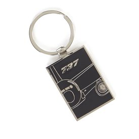 The Boeing Store 737 Midnight Silver Keychain