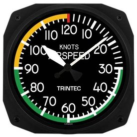 "Trintec Industries Airspeed Instrument Style 10"" Clock"