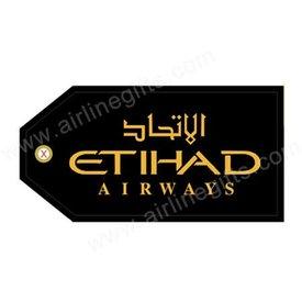 Luggage Tag Etihad Gold On Black