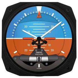 "Trintec Industries Artificial Horizon 10"" Instrument Style Wall Clock"