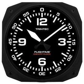 "Trintec Industries 10"" FLIGHTIME Instrument Style Cockpit Clock"