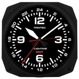 "Trintec Industries 10"" FLIGHTIME Instrument Style GMT Dual Time"