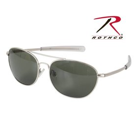 Rothco G.I. Type Aviator Sunglasses Black Smoke 58mm