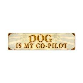 Dog Copilot Metal Sign