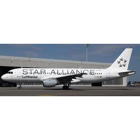 JC Wings A320 Lufthansa Star Alliance white tail D-AIQS 1:400