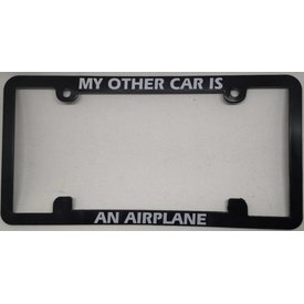 Licence Plate Frame - My Other Car is An Airplane