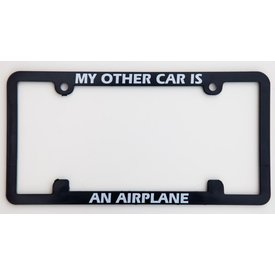 avworld.ca Licence Plate Frame - My Other Car is An Airplane