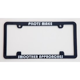 avworld.ca Licence Plate Frame - Pilots Make Smoother Approaches