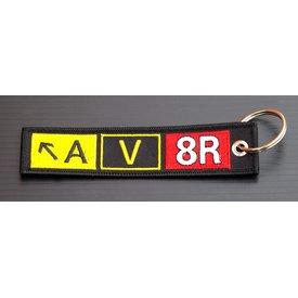 avworld.ca Key Chain AV8R Embroidered