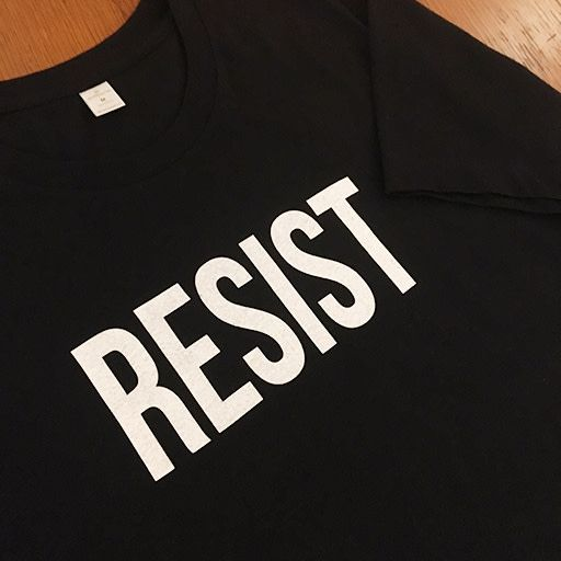 Moxy Brand RESIST Crew T-Shirt Black with White