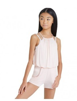 Capezio Pleated Romper for Girls