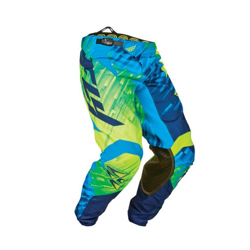 "Fly Racing Fly Kinetic Pant Blue/Hi-Vis ""Glitch''"