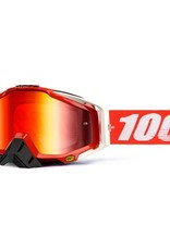 100% 100% Racecraft Goggle Fire Red Mirror Red Lens