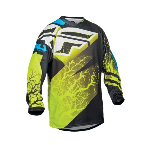 Fly Racing Fly F-16 Jersey Black/Hi-Vis/Blue