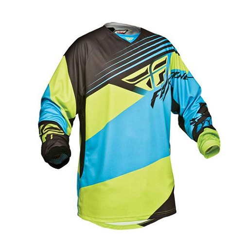 Fly Racing Fly Kinetic Jersey Blue/Hi-Vis 2XL