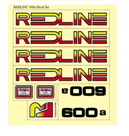 Redline Redline 1976 600A Decal Set 1 Sheet
