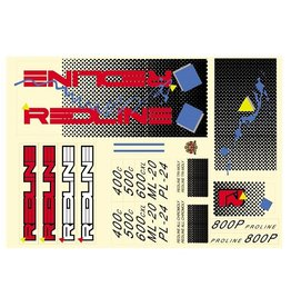 Redline Redline 1986 Squares Decal Set Blue 1 Set