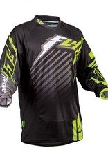 Fly Racing Fly Kinetic RS Jersey Black/Yelow Yth XL