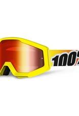 100% 100% Strata Mx Goggle Sunny Days Mirror Red Lens