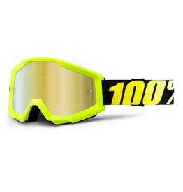 100% 100% Strata Goggle Neon Yellow/Mirror Gold Lens