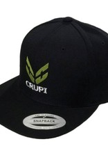 Crupi Crupi Snapback Hat Flat Bill Logo Black