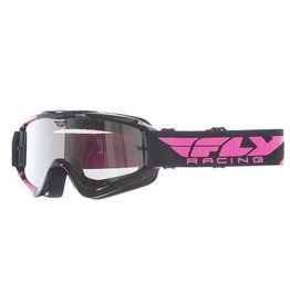 Fly Racing Fly Goggle Zone Black/Pink Chrome/Smoke Lens