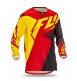 Fly Racing Fly Kinetic Vector Jersey Red/Black/Ylw Yth MD