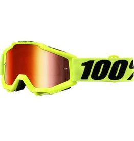 100% 100% Accuri Goggle Fluo Yellow Mirror Red Lens