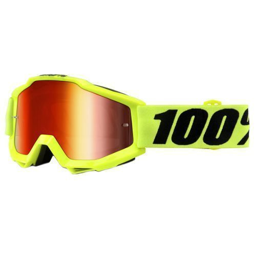 100% 100% Accuri Jr Goggle Fluo Yellow/Mirror Red Lens