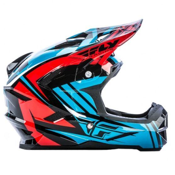 Fly Racing 2017 Fly Default Helmet Teal/Red