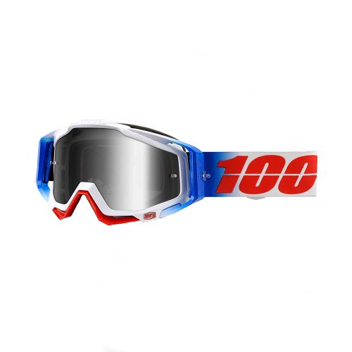 100% 100% Racecraft Goggle Fourth/Mirror Silver Lens
