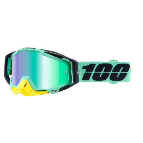 100% 100% Racecraft Goggle Kloog Mirror Green Lens