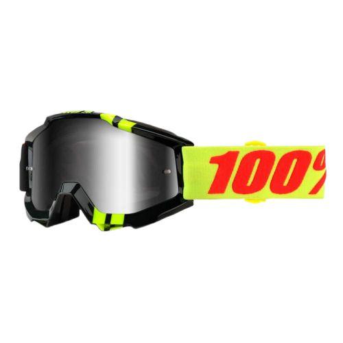 100% 100% Accuri Goggle Zerbo/Mirror Silver Lens