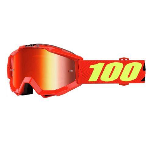100% 100% Accuri Goggle Saarinen/Mirror Red Lens