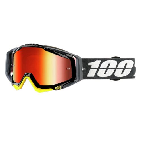100% 100% Racecraft Goggle Fortis/Mirror Red Lens