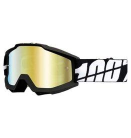 100% 100% Accuri Goggle Black Tornado/Mirror Gold Lens