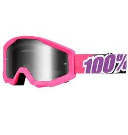 100% 100% Strata Goggle Bubble Gum/Mirror Silver Lens