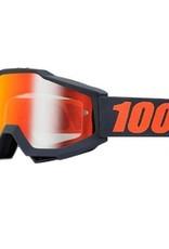 100% 100% Accuri Goggle Matte Gunmetal/ Mirror Red Lens